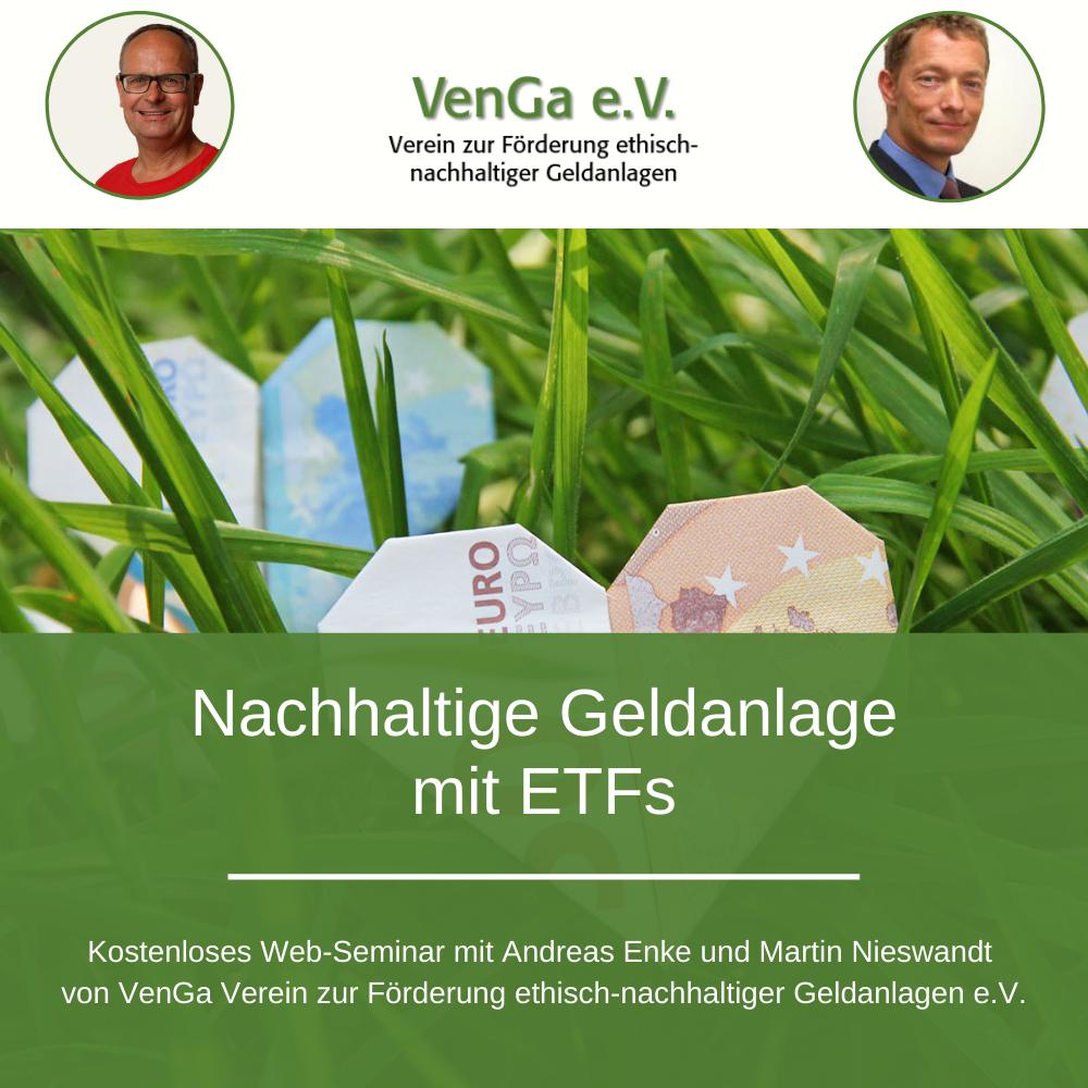 Nachhaltige Geldanlage mit ETFs